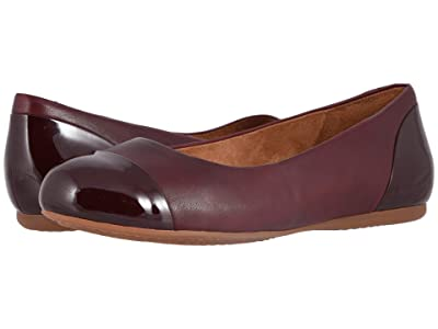 SoftWalk Sonoma Cap Toe (Dark Red Soft Napa/Patent) Women