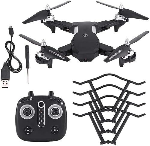 edición limitada en caliente Drone Plegable RC RC RC con Cámara, Cámara WiFi HD Transmisión en Tiempo Real Control de Altitud de Balanceo de 360 Grados con Luces LED Quadcopter (negro)(2MP)  mas preferencial