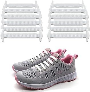 LattoGe 結ばないシリコン靴ひも子供と大人のためのレースロックバンド スポーツランニングシューレース スニーカー