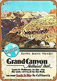 Jotora Santa Fe Grand Canyon Pintura de estaño, letrero de hierro, arte de pared, nostálgico, creativo, regalo, pintura decorativa, personalizada, minimalista, póster retro