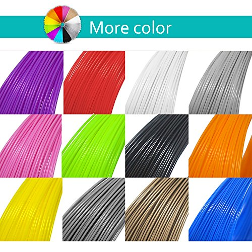 Mture 3D PrintFilament, Ink Filament PLA Filament 3D Stift Filament für 3D Drucker-Stift 3D Pen 3D Stift 3D Drucker 12 PCS 1,75 MM 5M - 9