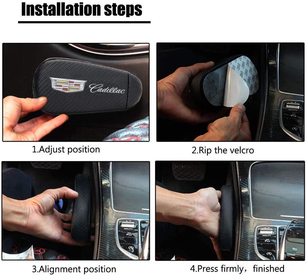DEFTEN Carbon Fiber Black Soft Knee Side Cushion Pad Thigh Support Comfort Pillow, Side Console Knee Support Pillow Foot Support Pad for Cadillac XT6 XT5 XT4 CT6 CT5 XTS CTS ATS SLS Escalade