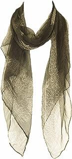 Silk Watercolor Scarf with Tassel 100% Silk scarf, summer scarf