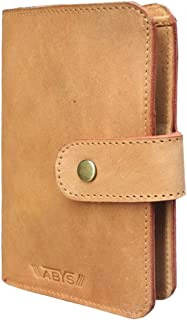 ABYS Genuine Leather Tan Coin Purse||Mobile Cover||Passport Holder||Travel Wallet for Men and Women