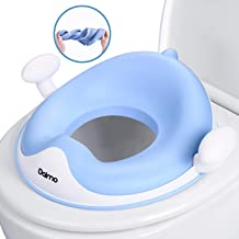 Si/ège De Toilette Pour B/éb/é Avec Coussin Poign/ée Dossier R/éducteur de WC ergonomique Aerobath R/éducteur de Toilette Conception Antid/érapants Vert Protection contre les /éclaboussures