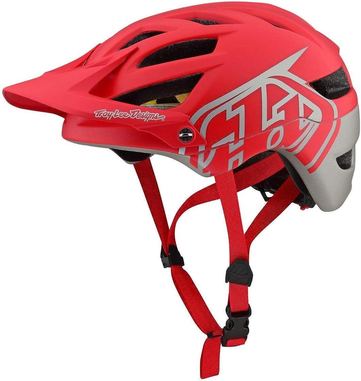 Troy Lee Designs A1 AS MIPS Bike Helmet Classic Red Silver
