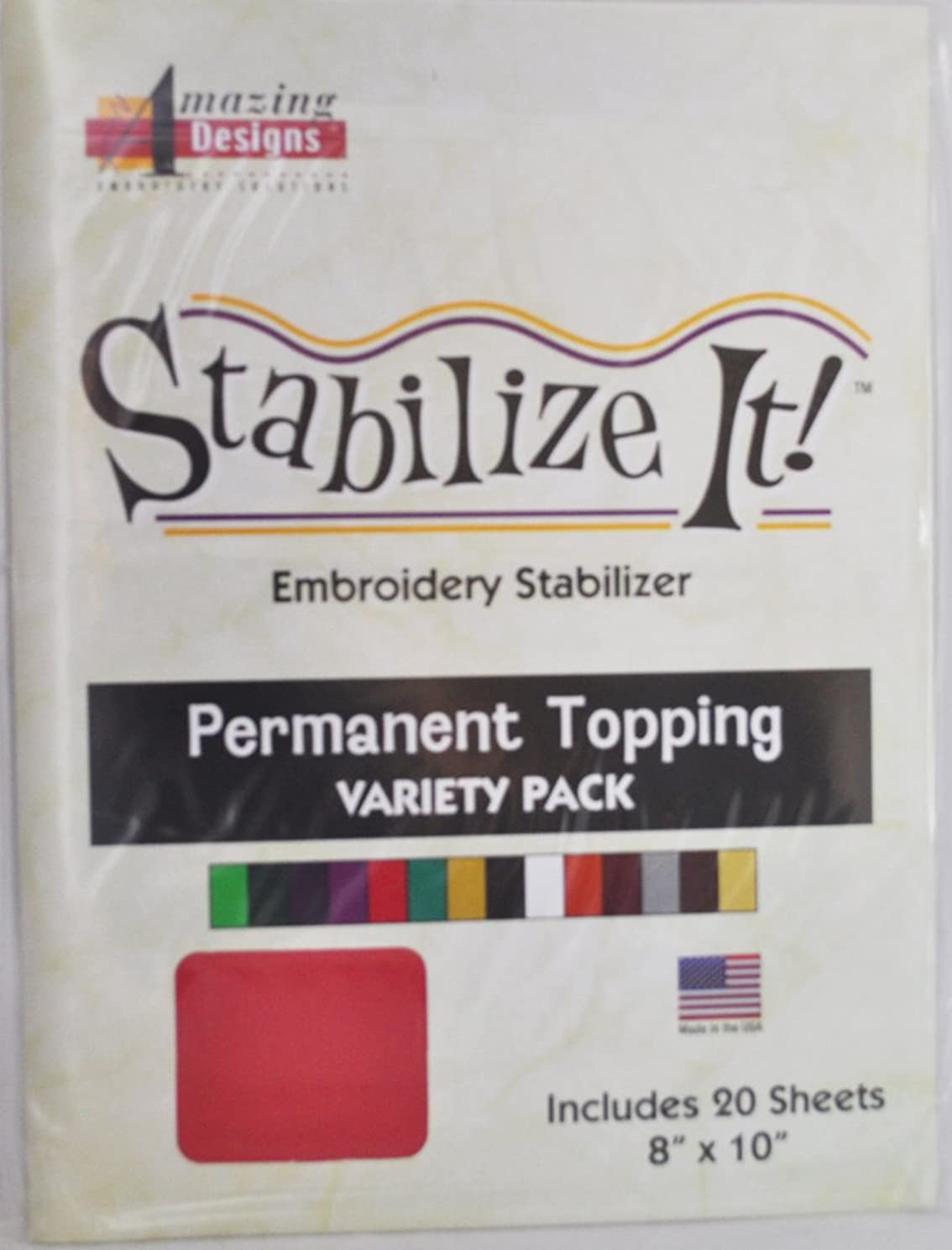 Stabalize It Embroidery Permanent Topping Variety Pack
