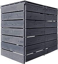 Fairpreis-design Mülltonnenbox Mülltonnenverkleidung Holz 120 L - 240 L anthrazit mit Rückwand vorimprägniert vormontiert ...