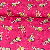 Baumwolljersey Prinzessin Lillifee pink Kinderstoffe