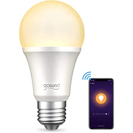 【Amazon Alexa認定】ゴウサンド(Gosund) WiFiスマート電球 スマート LED ランプ 電球色 調光・タイプ E26 スマートライト Alexa/Google home対応 追加機器不要 1個 LB1-1