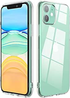 Clear Case Compatible with iPhone 11 Never Turn Yellow Covers Apple 2019 Full Body Protective Cases Poleet Bumper Shockproof Drop Protection Cover for Apple