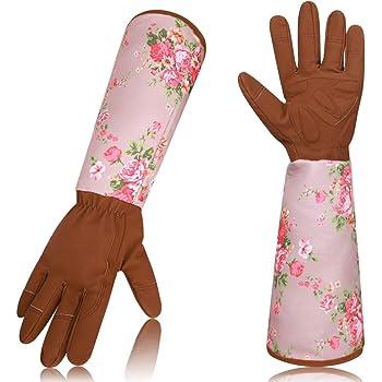 Guantes de jardín de cuero a prueba de espinas, guantes protectores profesionales de manga larga, guante de jardín anti penetración de alta calidad para mujeres, flexible y resistente al desgaste: Amazon.es: Industria,