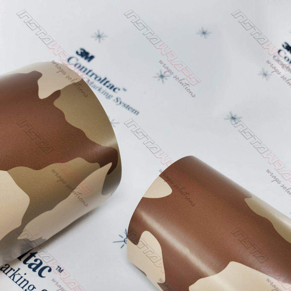 3M Vinyl Printed Camo Car Wrapping 売れ筋 Desert Force お買得 Film Light Matte