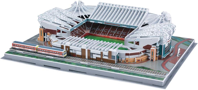 calidad garantizada Modelo 3D para para para Estadio Deportivo, Manchester United Old Trafford Course Modelo Fans Souvenir DIY Puzzle, Juego de 3 Piezas, 16 x 12  x 4   selección larga