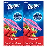 Ziploc Storage Bags with New Grip 'n Seal Technology, For Food, Sandwich, Organization and More,...