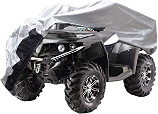 GUNHYI Atv Cover Waterproof All Weather, 6 Layer Heavy Duty Quad 4 Wheeler Cover Outdoor Sun Rain Snow Protection, Universal Fit L (88 x 39 x 42 Inch)
