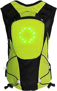 LeKing Mochila LED, Mochila de luz LED de Advertencia de Control Remoto inalámbrico, Mochila de señalización ,Mochila Ciclismo(Embalaje de Bolsa OPP)