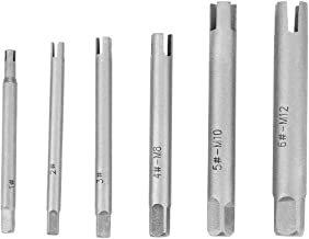 Tap Extractor 3/4 Flute Broken Head Screw Remover Stripped Tap Extractor Set Steel 3 Types(6 Pcs)