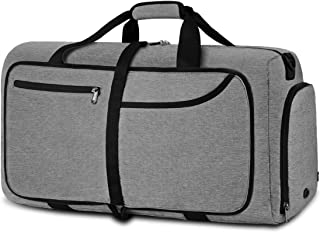 NEWHEY Bolsa de Viaje 40L 65L 80L 100L Plegable Ligera Bolsa Deporte Hombre Impermeable Bolsa Fin de Semana con Compartime...
