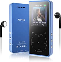 MP3 Player, 16GB MP3 Player with Bluetooth Speaker, AGPTEK Touch Button Lossless Music Player with FM Radio, Voice Recorder, Independent Volume Button, Expandable up to 128GB, Blue