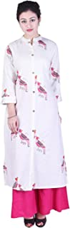 Crazora Women's Cotton Printed Kurta With Palazzo Set