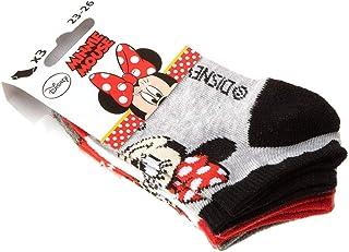 Minnie, Calcetín Invisibles - 3 pack - Sin tejido de rizo - de lunares - Disney