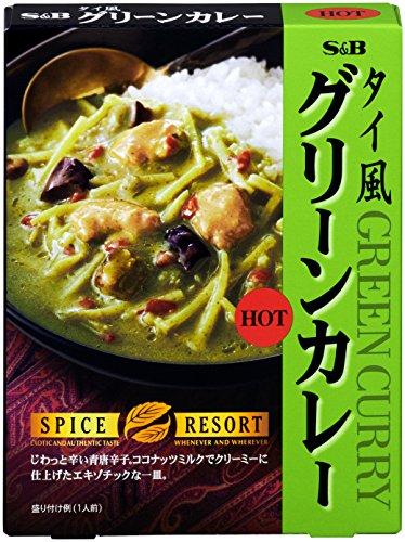 スパイスリゾート タイ風グリーンカレー HOT 200g×5...