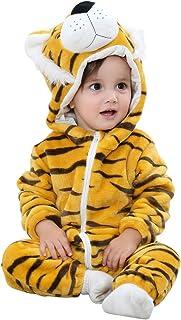 Bebé con Capucha Bebé Peleles Invierno Franela Mono Pijamas 0-36 Meses