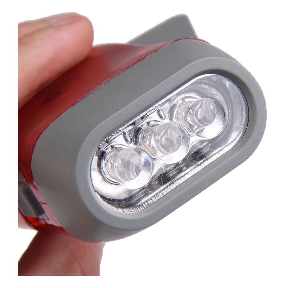 SimpleLife Hand Pressing Power Pig 2 LED Flash Light Lampe Torche Wind-up Dynamo Torch