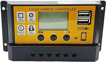Ashley GAO 12 V 24 Eenvoudige LCD Solar Lading Controllers Licht Tijdregeling Solar Lading en Ontlading Controller met USB