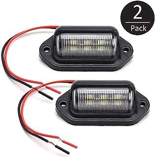 EEEKit 2 Pack 12V 6 SMD LED License Plate Lamp Light for Truck SUV Trailer Van, Step Courtesy Lights, Dome/Cargo Lights or Under Hood Light
