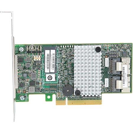 PCIe SATAカード 6 Gbit / s 8個の内部SATA + SASポートRAIDコントローラー マスターチップ付きPCI Express 2.0カード LSISAS2208デュアルコアROC、800 MHz Power PC用