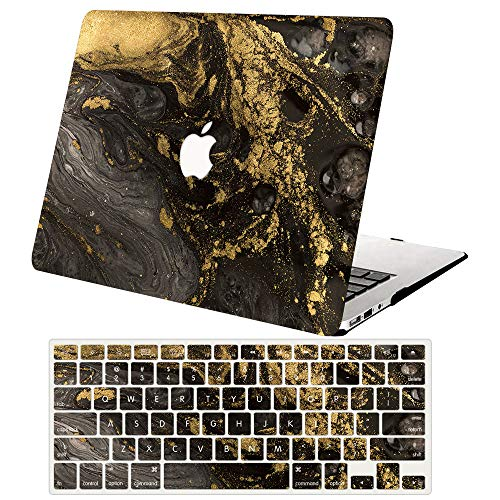 ACJYX MacBook Pro 13 inch Case 2020 2019 2018 2017 2016 Release A2338 M1 A2251 A2289 A2159 A1989 A1706 A1708, Plastic Hard Shell Case & Keyboard Cover for New MacBook Pro 13',Black Marble
