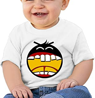 Angry Face Fowl Bird Custom Infant T-Shirt White