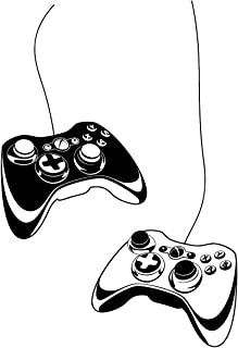 PICTURE IT ON CANVAS Video Game Xbox Controller Wall Decal Vinyl Home Decor Kid's Wall Stickers Bedroom Accents Murals