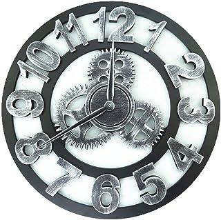 ساعة حائط كلاسيكية ثلاثية الأبعاد، ديكورات عتيقة يدوية كبيرة الحجم، عجلات فنية فاخرة، ساعة حائط كبيرة عتيقة، هدية على الحا...