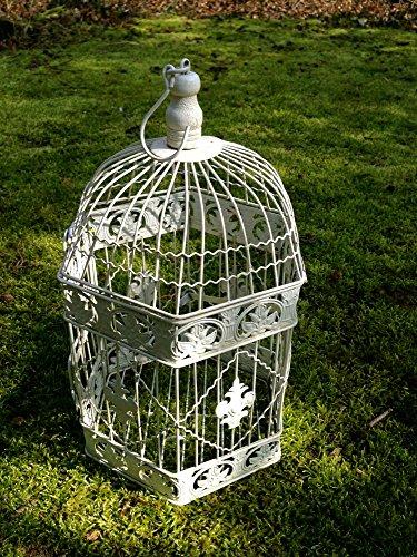 Antikas - Vogelkäfig filigran, Blumenampel, Hängeampel, Nostalgie Dekoration Terrasse