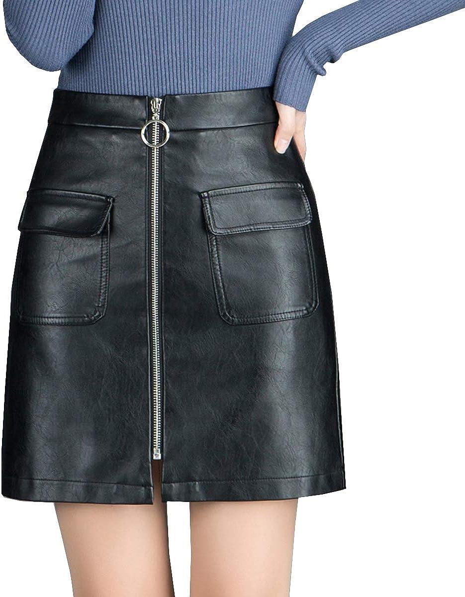 DISSA CD1927 Women Hight Waist Mini A-Line Skirt