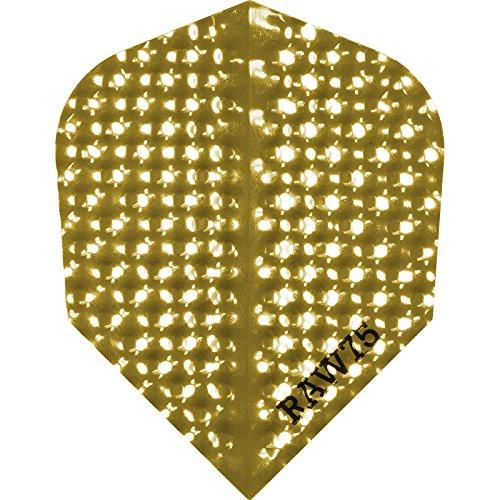Dart Flights–Raw 75Dimplex–75Mikron–STD–gold–5sets (15)
