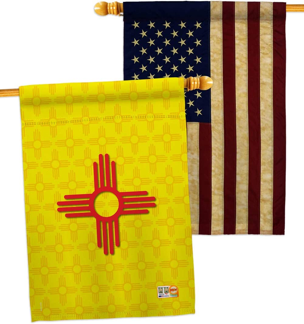 Breeze Decor Max 65% OFF States Ranking TOP3 New Mexico House Pack Flags Ame USA Regional