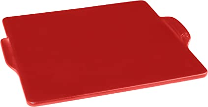 Emile Henry 347524 Square, Burgundy pizza stone, 14 in. x 14