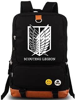 YOYOSHome Luminous Anime Attack on Titan Cosplay Laptop Bag Daypack Bookbag Backpack School Bag