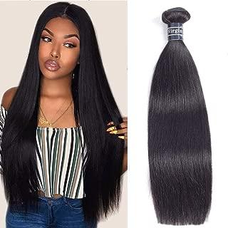 Amella Hair 8A Brazilian Straight Hair One Bundles 14inch Brazilian Virgin Hair Straight Unprocessed Brazilian Hair Weave Human Hair Extensions