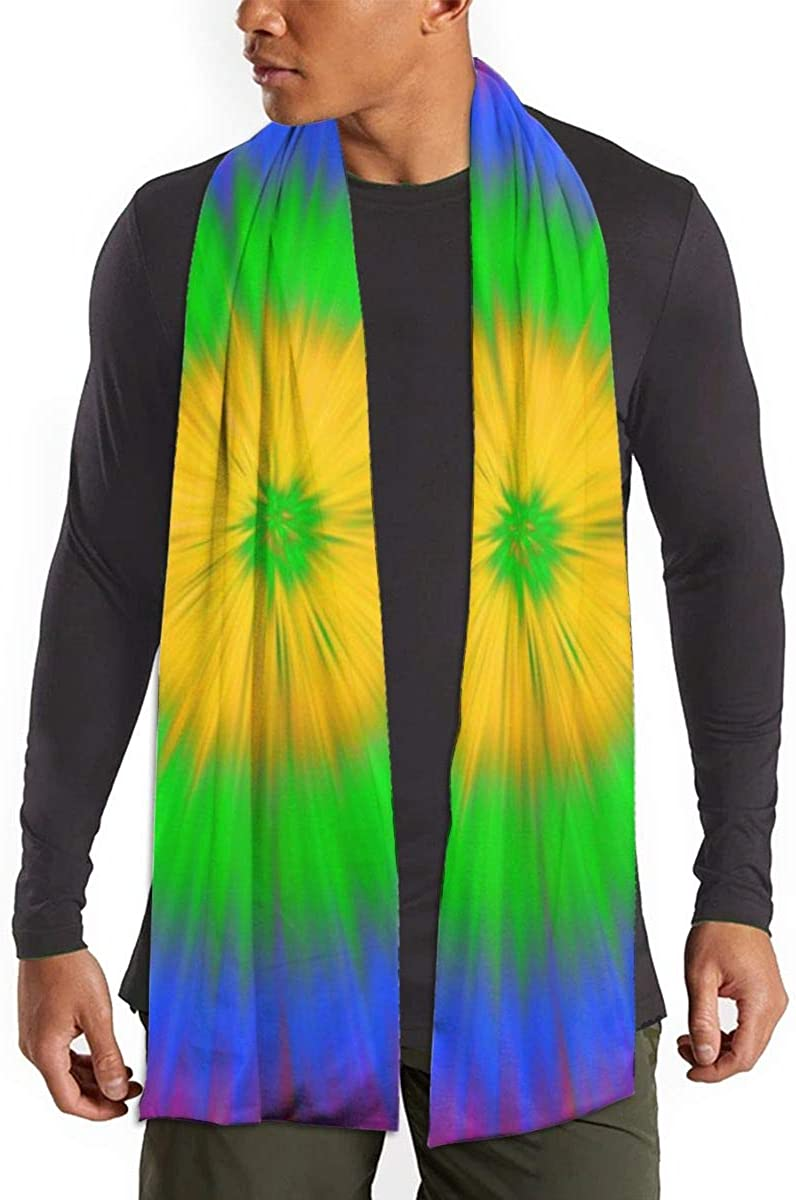 Women Men Winter Thick Warm Scarf All Colors(Colourful Wild Peacock)