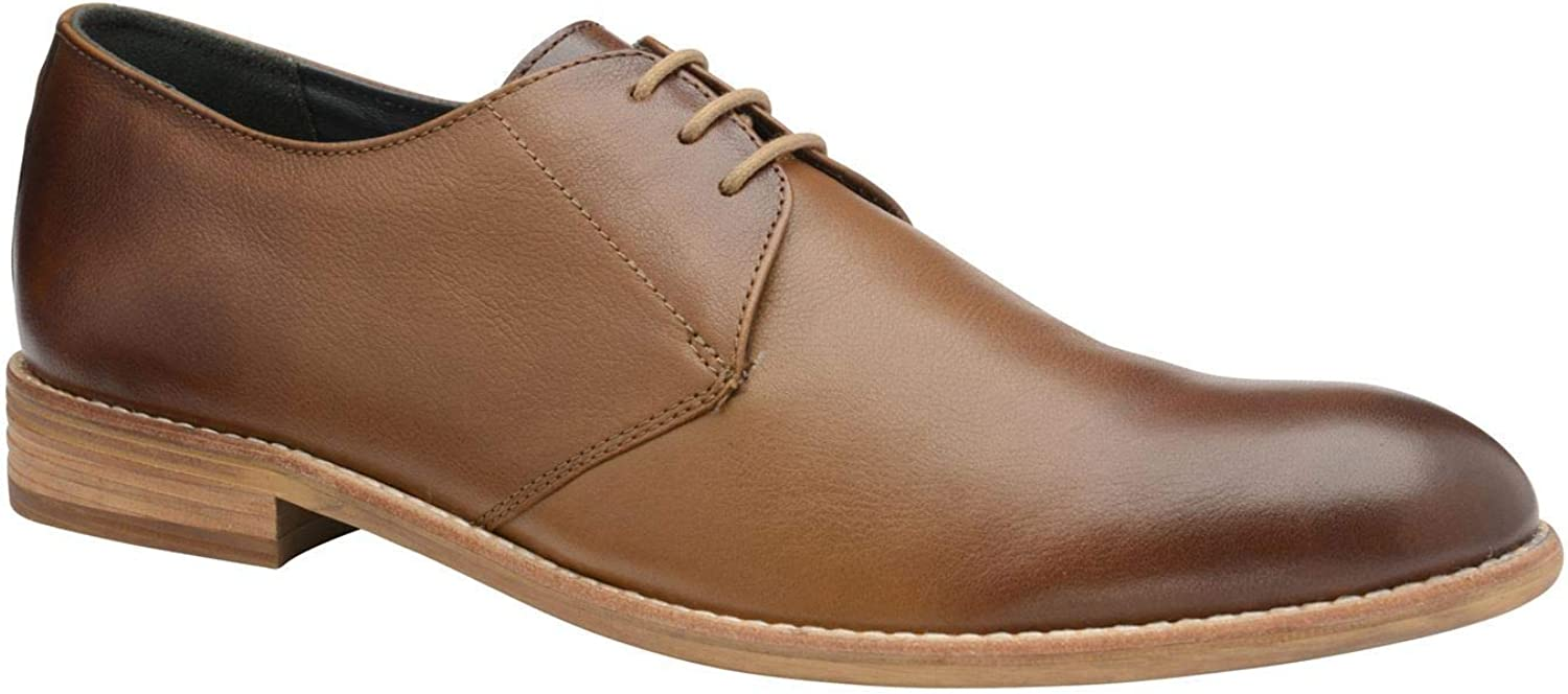 Frank Wright Pitt shoes Tan Leather Brown Lace Up Formal Footwear