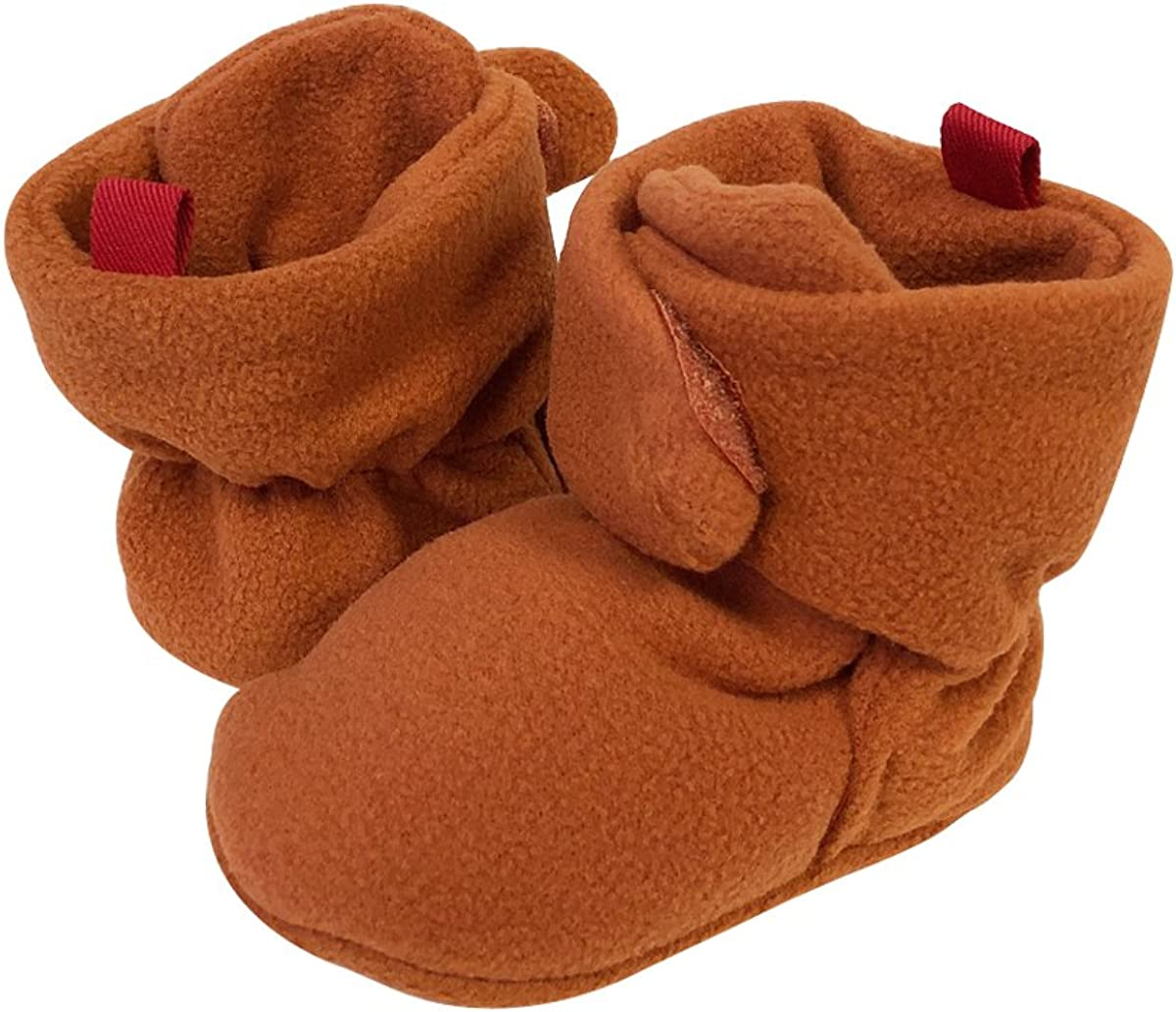 Bowbear Soft Fleece Booties with Non-Skid Material