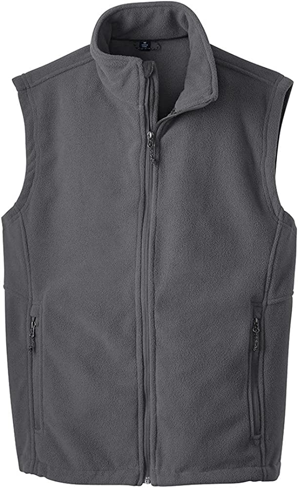 Joe's USA Supersoft Fleece Vest-XS-IronGrey