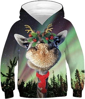 Boys' Teen 3D Hooded Print Graphic Sweatshirts Long Sleeve Pullover Hoodies with Pocket