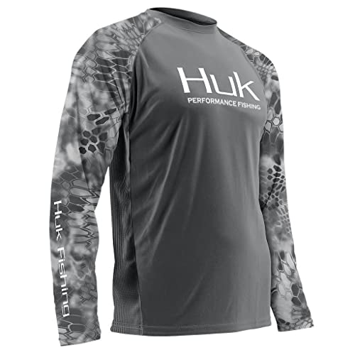 Color Choose Size Huk Men/'s Performance Kryptek Vented LS Shirt H1200119