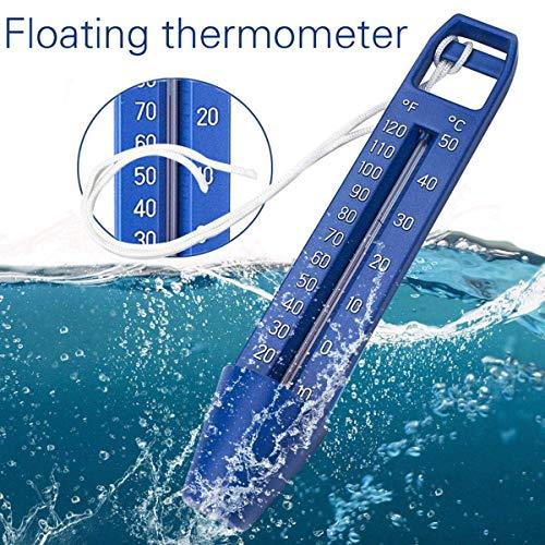 KKmoon Poolthermometer Schwimmbad Pool Teich Thermometer Premium-Wasserthermometer mit Schnur ℃ / ℉ Genaue Temperaturmessungen Ideal für alle Schwimmbäder Spas Whirlpools Teiche